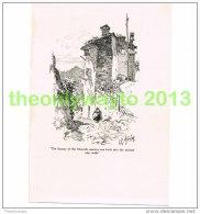 MOORISH QUARTER, CAGNES, FRANCE, BOOK PLATE/PRINT, 1920 - Prints & Engravings
