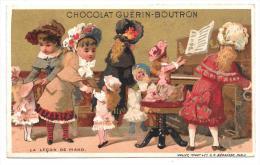 CHROMO - CHOCOLAT GUERIN BOUTRON - La Leçon De Piano - Guerin Boutron
