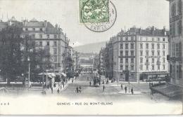 GENEVE  - RUE DU MONT-BLANC   Belle Carte Animée! - GE Geneva