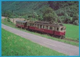 FM Ferrovia Mesolcinese Fra Castione/Bellinzona E Cama Motrice ABe 4/4 (AB) Fra Leggia E Grono - Bahn Railway Train - Trains