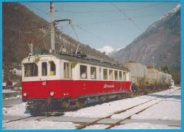 FM Ferrovia Mesolcinese Fra Castione/Bellinzona E Cama Treno Merci ABe 4/4 N° 42 Fra Leggia E Grono - Bahn Railway Train - Trains