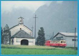 FM Ferrovia Mesolcinese Fra Castione E Cama - AB 4/4 42 (AB) E BDe 4/4 491 (RhB) A San Vittore - Bahn Railway Train - Trains