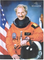 BELGIUM'S FIRST ASTRONAUT- DIRK FRIMONT- COLOR PHOTO SIGNED - FLEW STS-45 MISION - Briefe U. Dokumente