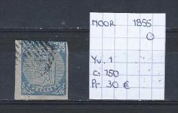Noorwegen 1855 - Yv. 1/Michel 1 Gest./obl./used - Norvège