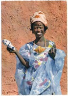 AFRICA IN PICTURES/AFRIQUE EN COULEURS - A NICE WOMAN / WITH SENEGAL THEMATIC STAMP-ANIMAL / KAOLACK CANCEL 1962 - Senegal