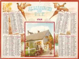 ALMANACH DES POSTES ET DES TELEGRAPHES  PTT  De 1968 - Calendriers
