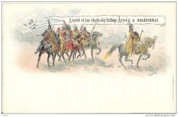 Hungary Postal Stationary Card Entier Entero Ganzsache 1896 Arpad Et Les Chefs Des Tribus Horse Pferd New Unused - Pferde