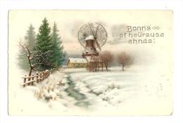 Cp, Nouvel An, Bonne Et Heureuse Année, Voyagée 1935 - Año Nuevo