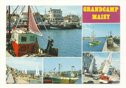 Cp, 14, Grandcamp - Maisy, Multi-Vues, écrite - Francia