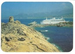 Cp, 20(2B), Ile Rousse, Face à La Tour, Le Port Abrite Les Grands Bateaux à L´Escale - Autres Communes