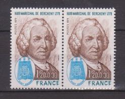 FRANCE / 1979 / Y&T N° 2029 ** (2 TP En Paire)  : Ladislas De Brecheny - Gomme D´origine Intacte - Neufs