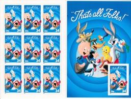 United States 2001 - Sheet/9+Sheet/1 Porky Pig #3534 - Unused Stamps