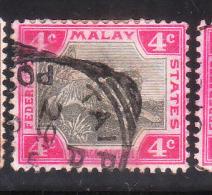 Malaya Federated Malay States 1901 Tiger 4c Used - Federated Malay States