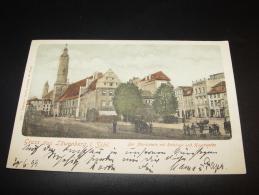 GRUSS AUS LÖWENBERG I. SCHLESIEN Der MARKTPLATZ Mit RATHHAUS Und HAUPTWACHE  1899 Nach SCHÖNEBERG  BERLIN - Löwenberg