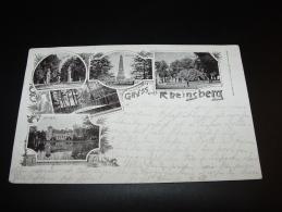 GRUSS AUS RHEINSBERG OBELISK MARKTPLATZ NATURTHEATER KUNSTANSTALT SOMMER BERLIN SCHONEBERG 1897 Nach GÖPPINGEN - Rheinsberg