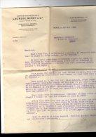 Lettre Sur Papier à En-tête , 1939 , LACROIX , RIMET & Cie , Paris ,13 Rue Gréneta , III E , Contentieux , Recouvrements - Bank & Insurance