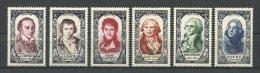 FRANCE 1950 N° 867 à 872 ** Neufs = MNH TTB Cote 96 € Célébrités Celebrities Hoche - France