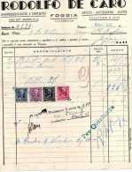 FOGGIA-MOTO-AUTO-ACCESSOR I-FRATELLI DE CARO-1943-FATTURA - Italia