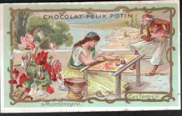 CHROMO CHOCOLAT FELIX POTIN - MONTENEGRO - CYCLAMEN - Félix Potin