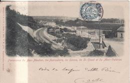 CPA. - Panorama Du Bas-MEUDON, Funiculaire, De Sèvres, De St-Cloud Et Du Mont-Valérien - Meudon