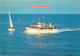 CPSM Bâteau Faisant La Liaison Les Sables D'Olone-Ile D'Yeu-Le Paradisier  L1513 - Ships