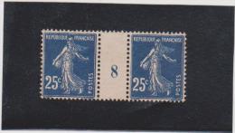 N° 140 Mill 8 Bleu Foncé Xx - 1906-38 Sower - Cameo