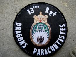 INSIGNE TISSUS PATCH DES DRAGONS PARACHUTISTES 13� RDP (SUR VELCRO) ETAT EXCELLENT