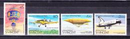 ST . VINCENT & GRENADINES   1983, First Manned Flight 200 Years  Y&T  275/8  , Cv  4.50  E , ** M N H , V V F - St.Vincent E Grenadine