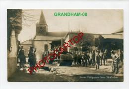 GRANDHAM-Rouleau-Cylindre-Route-Travail-Soldats-Carte Photo Allemande-Guerre14-18-1WK-France-08-Feldpost- - France