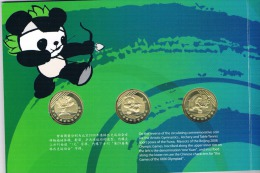China   3 X 1 Yuan -2008 OLYMPIC GAME SPORT - In Folder - China