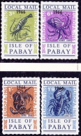 11050# ISLE OF PABAY LOCAL MAIL EUROPA 1966 SHRIMP HERMIT CRAB SHORE CRAB  LOBSTER LOCAL ISSUE MHN ** - Local Issues