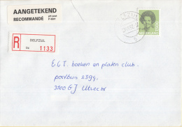 Nederland - Aangetekend/Recommandé Brief Vertrek Delfzijl - Aantekenstrookje Delfzijl 1133 - Poststempels/ Marcofilie