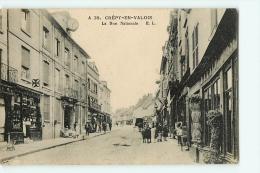 Crépu En Valois : Rue Nationale. 2 Scans. - Crepy En Valois