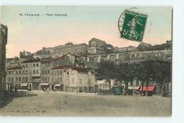 Saint Chamond : Place Nationale. Dos Simple. 2 Scans. Edition P M - Saint Chamond