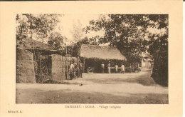 POSTAL DE DAHOMEY  DE DOHA DE UN POBLADO INDIGENA - Dahomey
