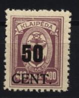 Memel,199,II,xx,gep.  (4870) - Memelgebiet