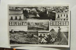 CARTOLINA Di SIRACUSA SALUTI A5114 VIAGGIATA - Siracusa