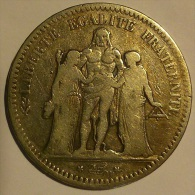 5 FRANCS HERCULE 1849A - France