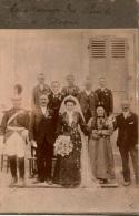 Photographie Fin XIXè Siècle D'un Mariage , Femme En Coiffe , Hussard , Très Beau Cliché - Photos