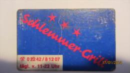 """Telefonkarte Der Deutschen Telekom """"Schlemmer-Grill 02242/81207"""" 12 DM, 01.91  Auflage: 500.000 - Deutschland"""