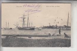 OSTPREUSSEN, PILLAU / BALTIJSK, Blick Auf Hafen Und Stadt, Segelschiffe, 1919 - Ostpreussen