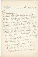 Ille Et Vilaine, 1907, Lettre Autographe Sénateur Ferdinand Baston De La Riboisière, Militaire (2 Scans) - Autographes