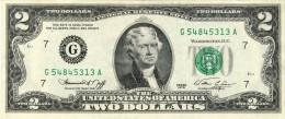 BILLET # ETATS -UNIS # FEDERAL RESERVE NOTE # 1976 # 2 DOLLARS # JEFFERSON # PICK 461 # CIRCULE # - Federal Reserve Notes (1928-...)