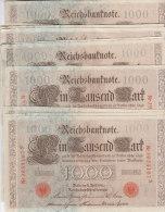 10 BILLETS De 1000 MARK 21-04-1910 - [ 2] 1871-1918 : German Empire