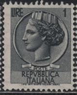 21360  Italia 1955 Siracusana £ 1  Nuovo - 1946-60: Nuovi