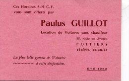 HORAIRES SNCF   PUBLICITÉ   PAULUS GUILLOT  POITIERS   HUIT FEUILLETS DESTINATIONS - Europa