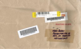 India 2010 Mangalore Meter Franking Barcoded Registered Cover - India