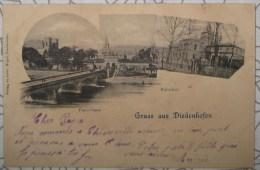 CPA Noir Et Blanc Gruss Aus Diedenhofen Panorama Thionville - Thionville