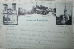 CPA Noir Et Blanc Gruss Aus Diedenhofen Multivues Thionville - Thionville