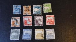 Palestine 1927/44 Lot De 12 Timbres Usagés ( Mandat Britannique) - Palestine